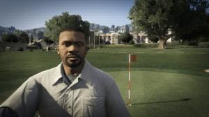 Franklin enjoys a day on the golf course.