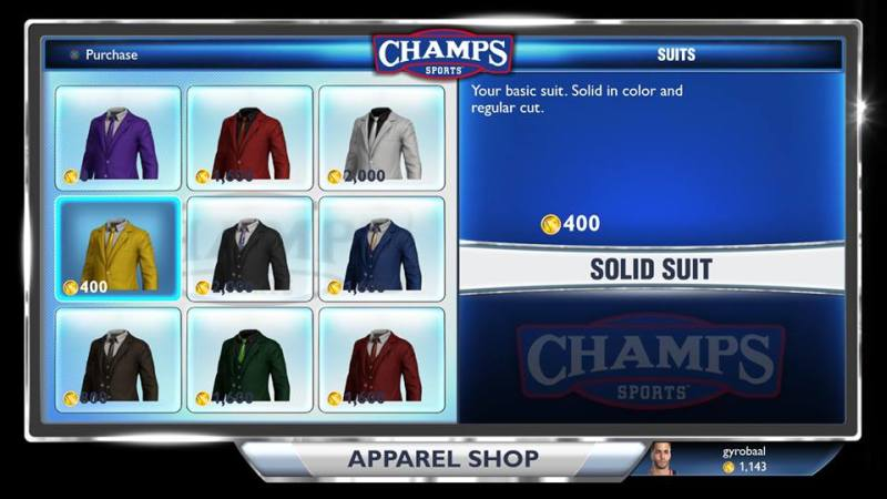 Suits in store