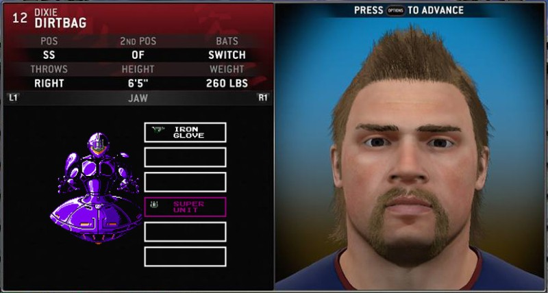 Number DD-420, Code Named Dixie Dirtbag.  A modified version of the emulated Chipper Jones software, popular among the cybermeth addicts of the future.  Moved from 3b to shortstop despite his size.  Hits anything and everything.  Assigned to the Atlanta Braves.