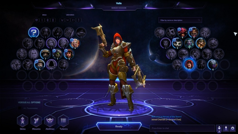 All the Heroes from Heroes of the Storm. And this is the MOBA with, like, the fewest characters.