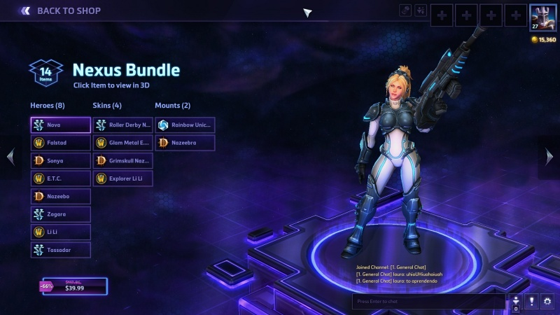 The best discounted HotS bundle, which gets you eight heroes for $40.